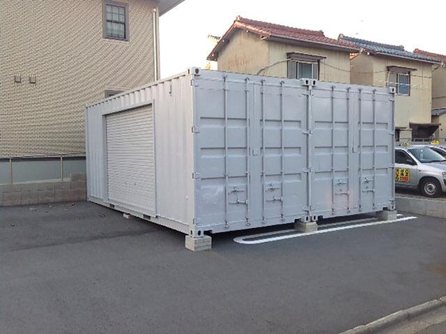 20フィート2連結コンテナ倉庫