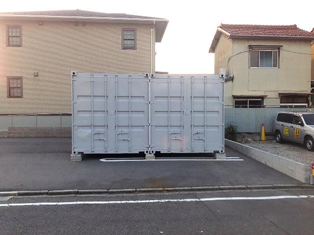 20フィート2連結コンテナ倉庫 側面観音扉