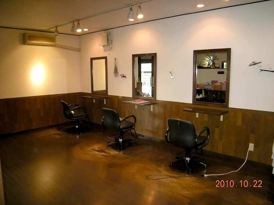 店舗型コンテナハウス(美容室) 美容室内