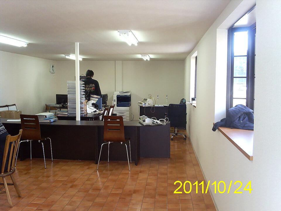 コンテナオフィス(2階建て) 2階事務所フロア