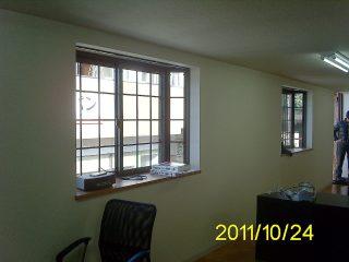 コンテナオフィス(2階建て) 2階出窓