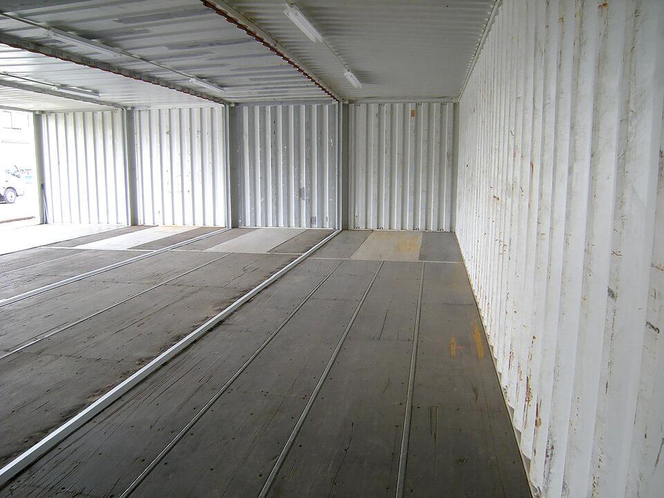 40フィートコンテナ 4連結全面フルシャッターコンテナ倉庫 naikan 2