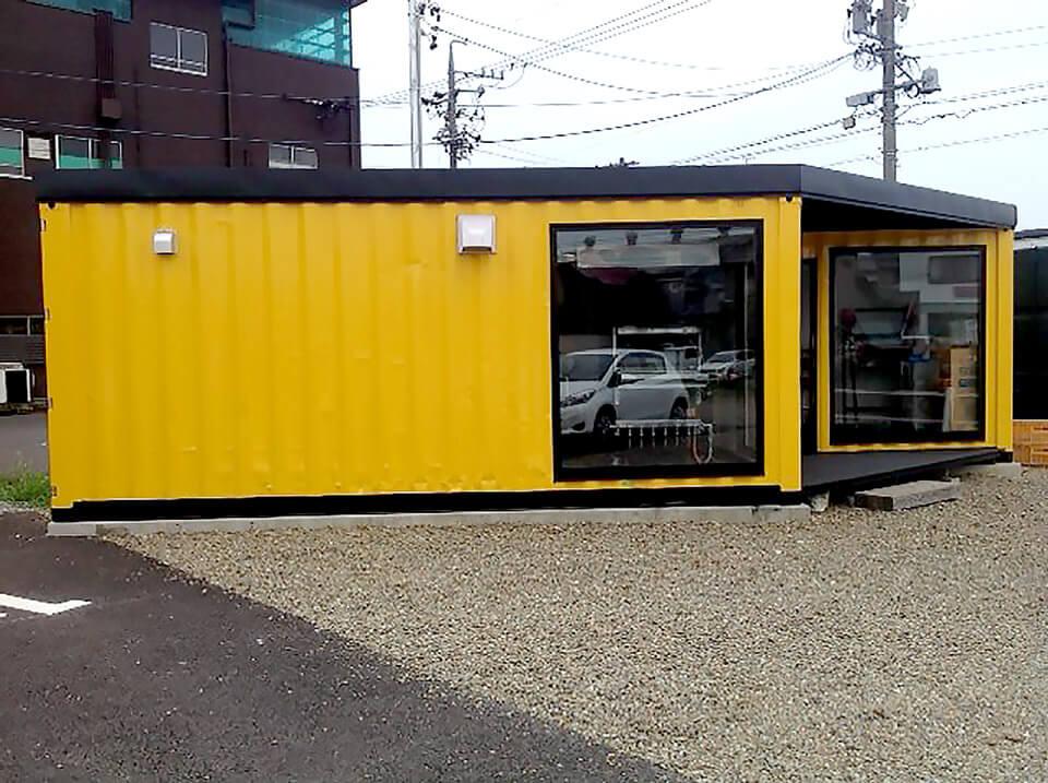 店舗型コンテナハウス バウムクーヘン屋さん