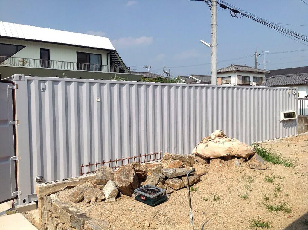 40フィートコンテナ倉庫 側面の写真