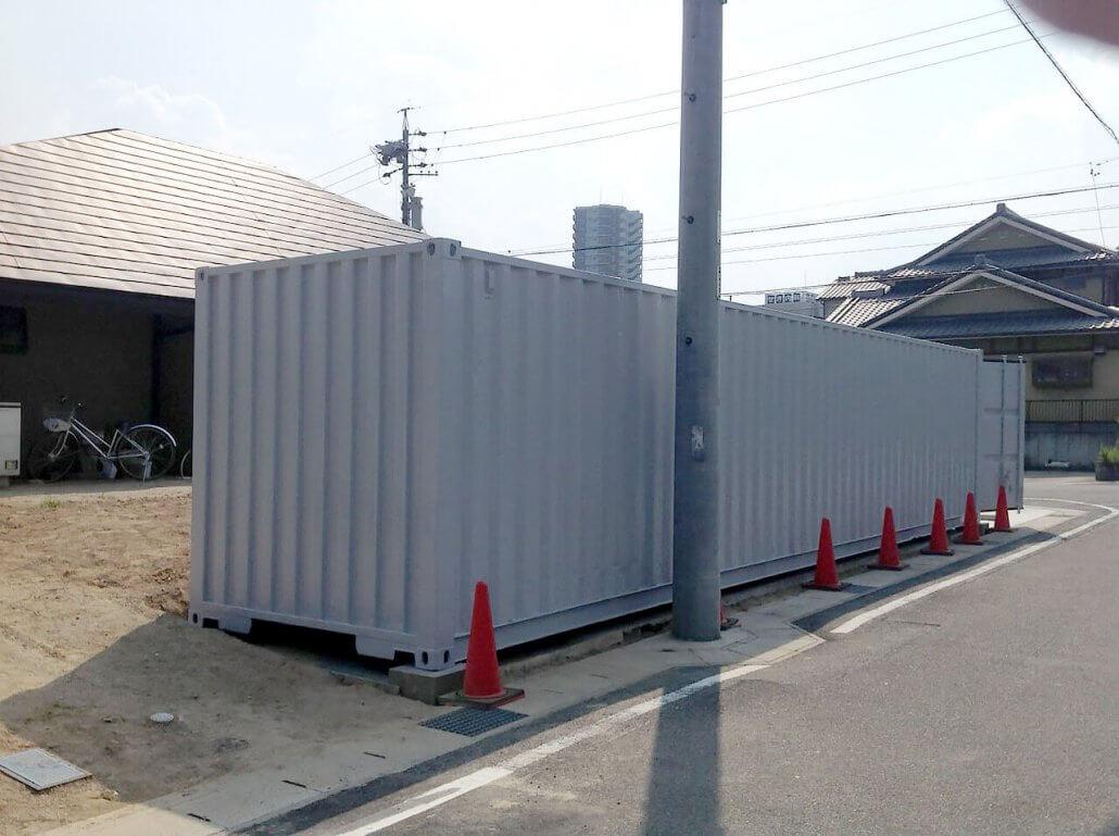 40フィートコンテナ倉庫 逆側の写真