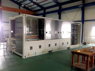 制御機器の保管庫兼フレームとしてのコンテナ利用 裏側