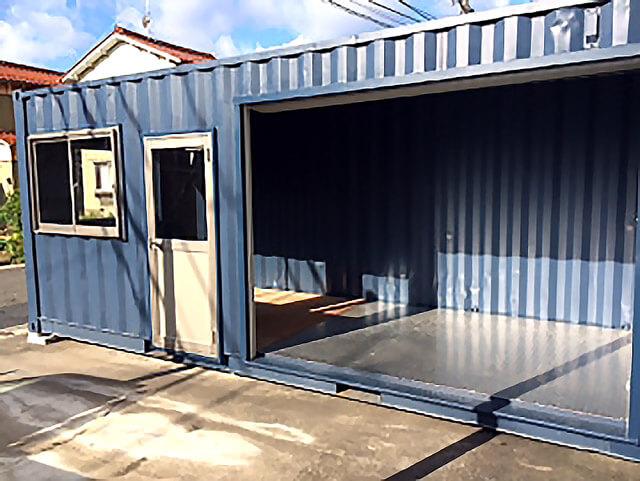 シャッター付きコンテナ倉庫(物置き)オープン時