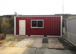 自宅の空きスペースにコンテナで使って自転車置き場兼倉庫