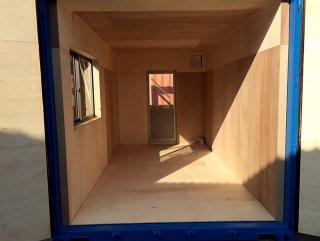 倉庫用コンテナハウス 内部の様子