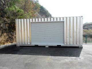 会社敷地内に倉庫用コンテナハウス 正面写真