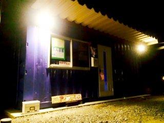 オシャレな工務店様の事務所をコンテナハウス ライトアップ
