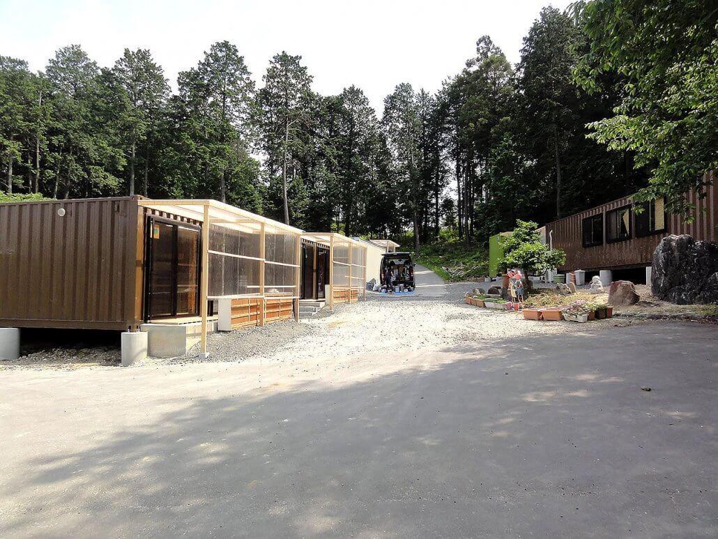 幼稚園として利用のコンテナハウス 全体の様子