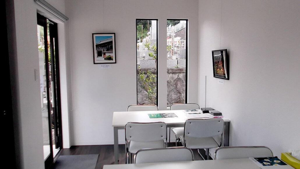 管理事務所コンテナハウス中の様子、打ち合わせスペース2