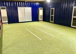 40フィートコンテナを使ったスポーツ施設型コンテナハウス(トレーニングルームとしての利用)運動しやすい広さ