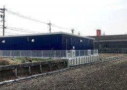 40フィートコンテナを使ったスポーツ施設型コンテナハウス(トレーニングルームとしての利用)裏側の様子