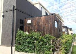 コンテナハウスの店舗利用(美容室)外観側面