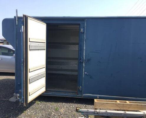 トラック箱D5800 換気扇、電気配線、スイッチ付き 側面扉