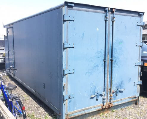 トラック箱D5800 換気扇、電気配線、スイッチ付き 外観