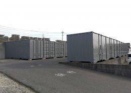 観音扉を活かした使いやすいコンテナ倉庫 全部で14本