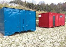 農作業で使える事務所と温度管理可能な保管庫を併設