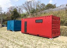 農作業で使える事務所と温度管理可能な保管庫を併設 事務所側