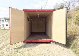 農作業で使える事務所と温度管理可能な保管庫を併設 観音扉