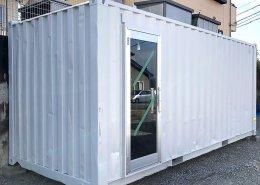 ご自宅の庭に事務所兼倉庫としてコンテナ設置 全体