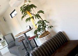 cafeのようなオシャレな空間の事務所型コンテナハウス カフェのように落ち着く空間