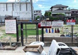 コンテナハウスでつくるプール付きドッグラン&カフェの店舗兼犬舎 ドッグランの様子