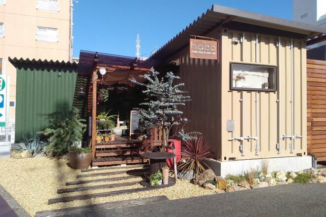 カフェ&植物販売の店舗型コンテナハウス
