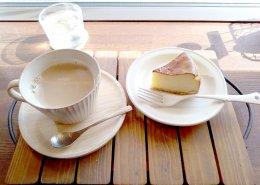 カフェオレ&チーズケーキ