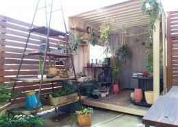 観葉植物&ドライフラワーの販売エリア