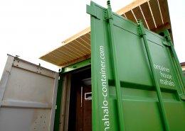 Steel × Wood 鉄と木が織りなす快適なコンパクトオフィスのコンテナハウス 扉オープン