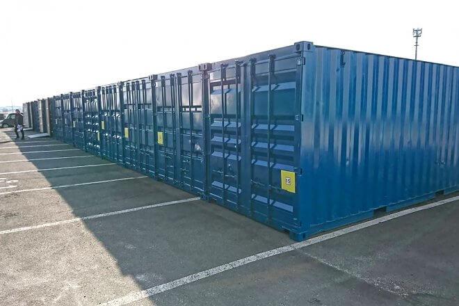 15本×20ftコンテナ倉庫