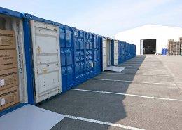 15本×20ftコンテナ倉庫 反対側からの写真