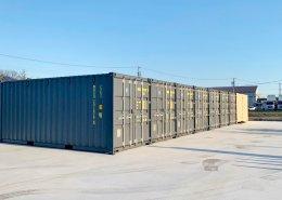 会社用に20フィートコンテナ倉庫を9台設置