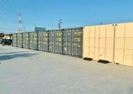 会社用に20フィートコンテナ倉庫を9台設置 中古コンテナ側から