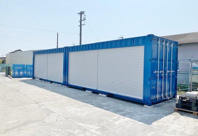 新品のコンテナで作る会社用倉庫(静岡県磐田市)