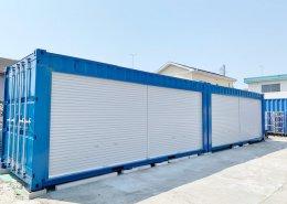 新品のコンテナで作る会社用倉庫(静岡県磐田市) 左側