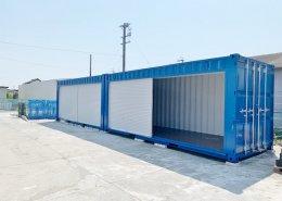 新品のコンテナで作る会社用倉庫(静岡県磐田市) シャッターオープン