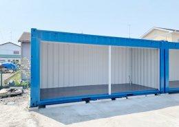 新品のコンテナで作る会社用倉庫(静岡県磐田市) シャッターフルオープン3