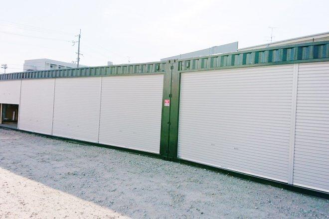 40フィートハイキューブコンテナ倉庫を2台設置(京都府久世郡)