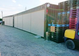 40フィートハイキューブコンテナ倉庫を2台設置(京都府久世郡) 右側