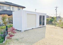 新造コンテナで作る自宅用倉庫(岐阜県可児市)