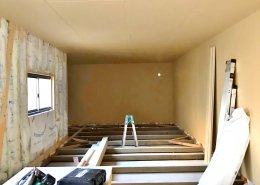 自宅敷地内に資材用の木造ハウス作成 施工中の様子3