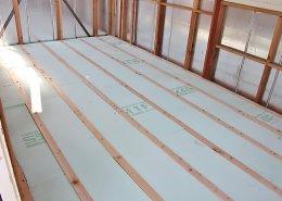 自宅敷地内に資材用の木造ハウス作成 施工中の様子4