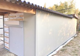 自宅敷地内に資材用の木造ハウス作成 外観1