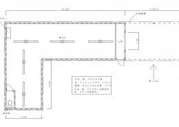 自宅敷地内に資材用の木造ハウス平面図