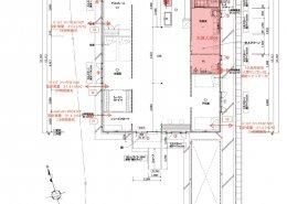 コンテナハウス仕様図 住居:換気配置