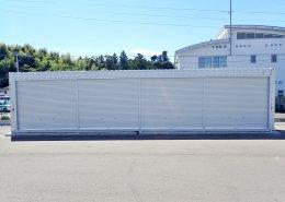 40フィートハイキューブのシャッター付倉庫